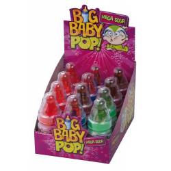 Topps Big Baby Pop Mega Sour 12 Schleckstengel Lollies
