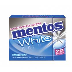 Mentos Gum White Sweet Mint 30g Fliptop x 12