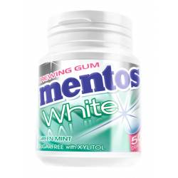 Mentos Gum White Green Mint 75g Bottle x 6