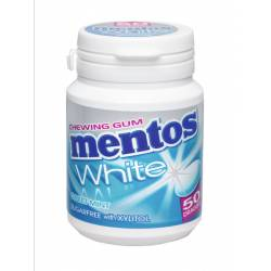 Mentos Gum White Sweet Mint 75g Bottle x 6