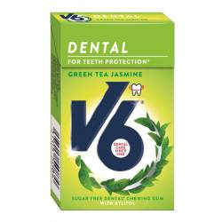 V6 Dental Green Tea Jasmine 24g Box x 24