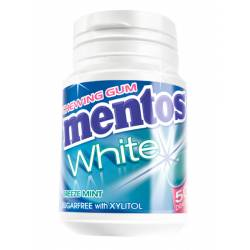 Mentos Gum White Breeze Mint 75g Bottle x 6