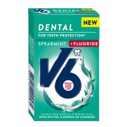 V6 Dental Spearmint plus Fluoride 24 Boxen