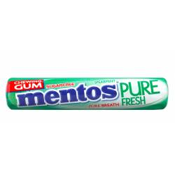 Mentos Gum Pure Fresh Spearmint 15g x 24
