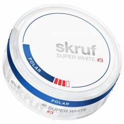 Skruf POLAR Strong Super White 20g Dose x 5